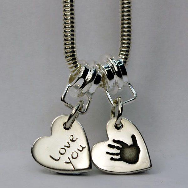 Little Sprout Keepsake Jewellery Two Small Heart Charms Bracelet