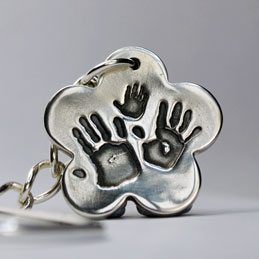Little Sprout Keepsake Jewellery Flower Handprint Charm Pendant