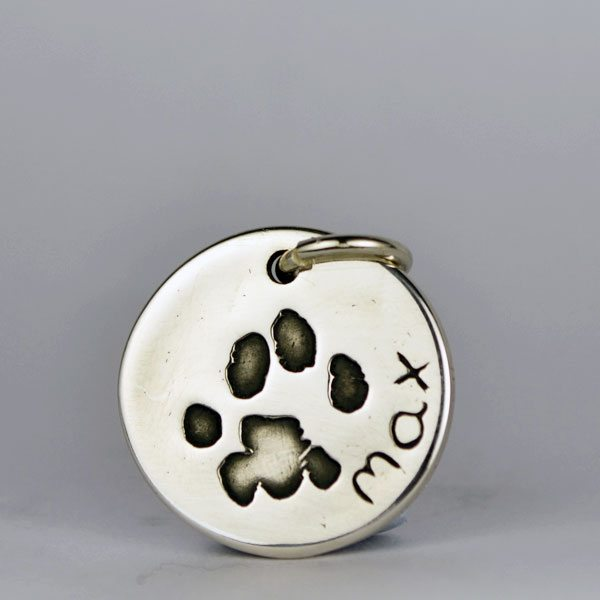Little Sprout Keepsake Jewellery Circle Charm Pendant Pawprint